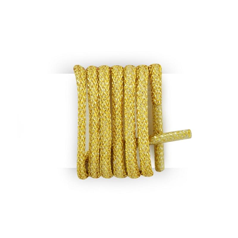 Les lacets Français–Cordones redondos de algodón encerado, color amarillo canario amarillo 70 cm