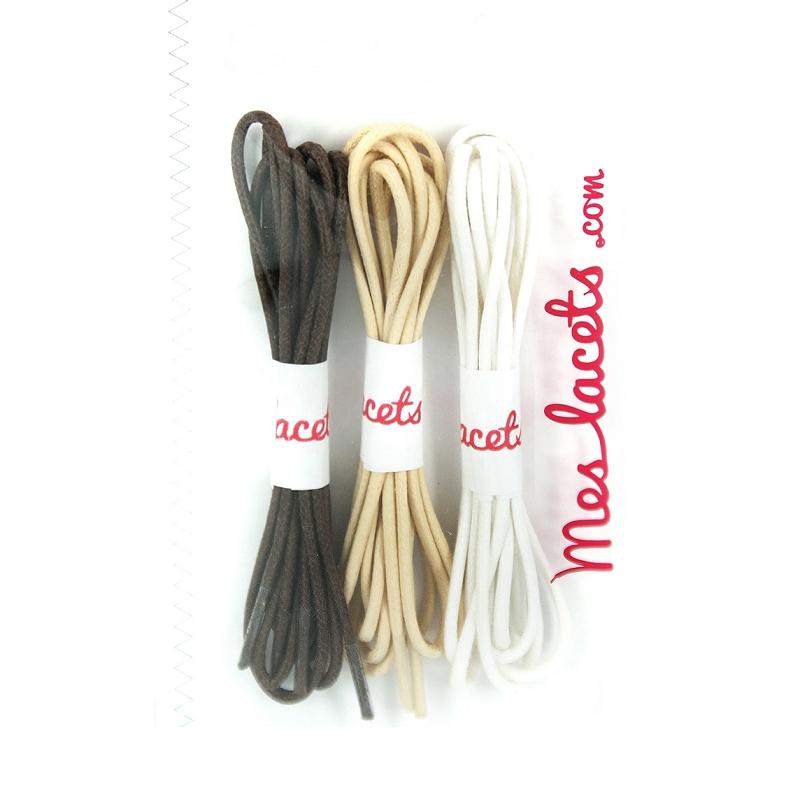 Boutique en ligne d87d8 600d5 Compra Cordones redondos y finos algodón marron caoba / beis ...