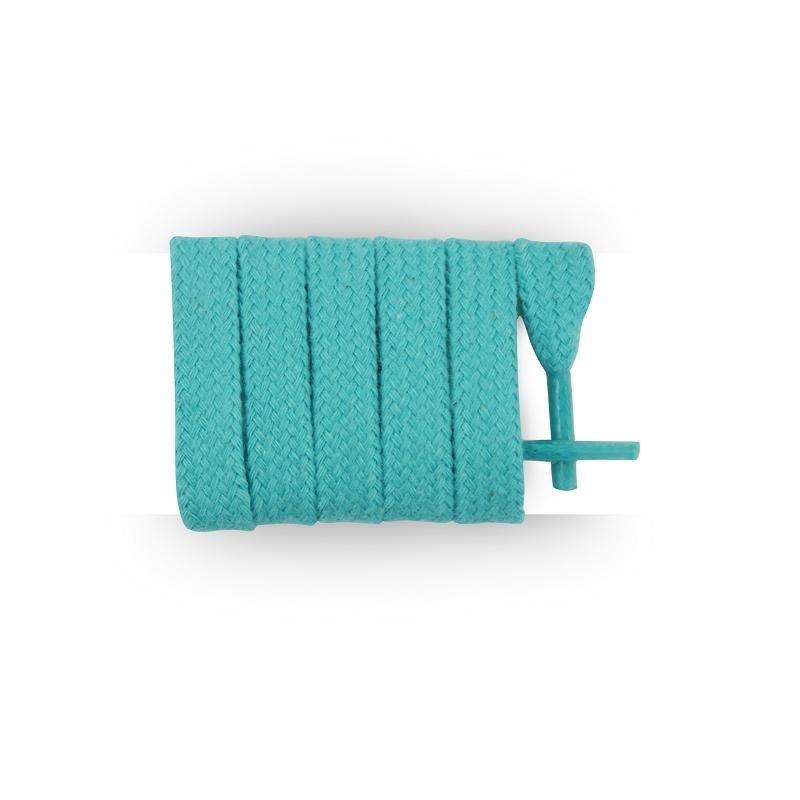 Los Cordones francés–Cordones redondos algodón encerado color azul turquesa azul 40 cm MPqCT4E